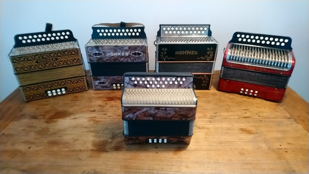 Button Accordions for Sale - selection of accordions
