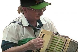 Irish American Box Player Joe Derrane and his Walter's Box